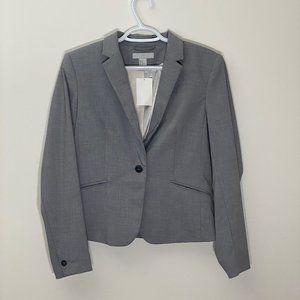 H&M Grey Single Button Blazer 10 NWT